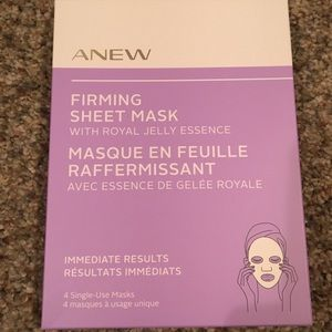 4 single use firming face masks AVON ANEW
